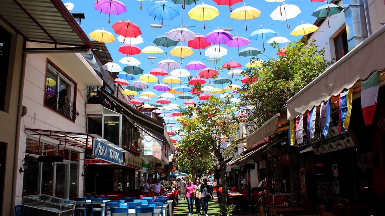 شارع المظلات